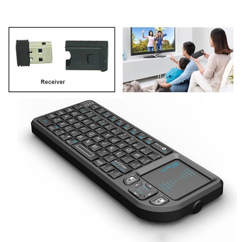 FREE EXPRESS SHIPPING For PC Notebook Smart Google Android TV Box: Rii mini X1 Handheld 2.4GHz RF Wireless Keyboard Qwerty With Touchpad Fly Air Mouse