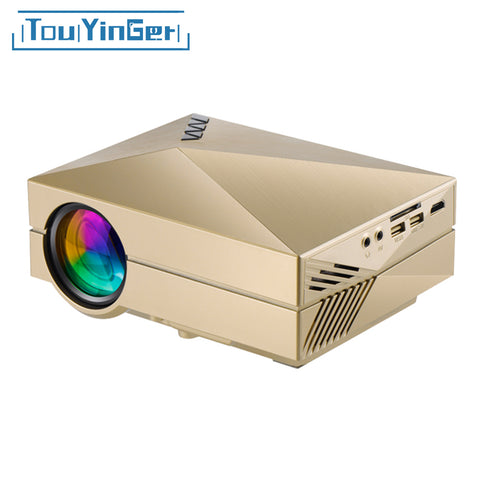 Media player gm60 mini LCD projector 1000 Lumens AC3 Support Full HD video portable LED home theater Cheap HDMI projector Beamer
