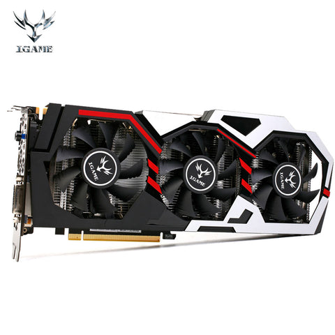 Colorful NVIDIA GeForce GTX iGame 1080 GPU 8GB 256bit Gaming GDDR5X PCI-E X16 3.0 VR Ready Video Graphics Card Three Cooling Fan