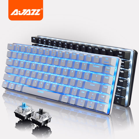 Ajazz Geek AK33 LED Backlit Usb Wired illuminated Gaming Mechanical Keyboard Gamer Ergonomic Multimedia Blue / Black Switch New
