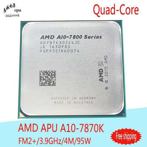 AMD APU A10 7870K CPU Processor Quad Core 3.9GHz 4MB Socket FM2+ Cache With Radeon R7 Desktop  NEW  Free shipping