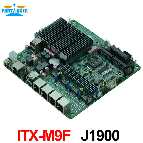 4*82583V Quad Core J1900 Processor Industrial Firewall Motherboard with support WIFI 3G USB COM
