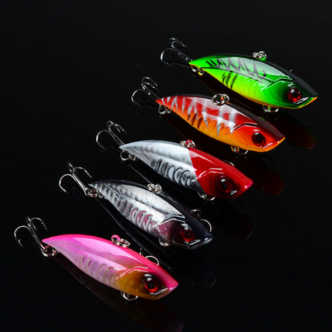 6.5cm 10.5g Leurre Dur Winter Fishing Hard Bait VIB with Lead Inside Ice Sea Fishing Tackle Diving Swivel Jig Wobbler Lure L40