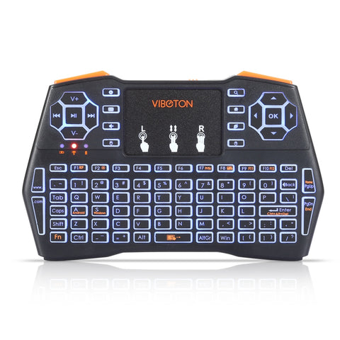 VIBOTON i8 Plus Handheld Mini Wireless Keyboard Backlit TouchPad For Android /Google TV Box/XBOX360 Gaming Air Mouse