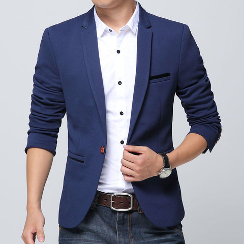 2017 designer men Suit Jackets Autumn Slim blazer masculino casual Blazer men high quality Business dress Blazer for men 6XL