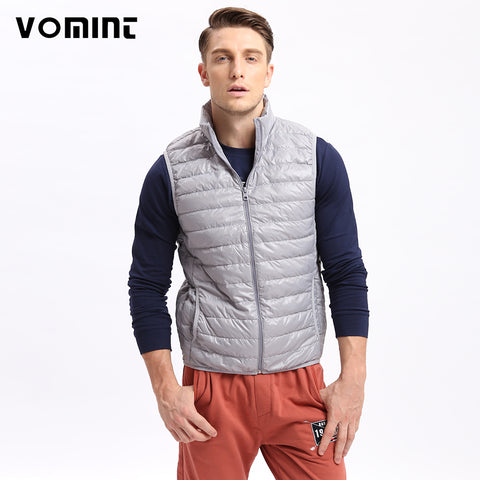 Vomint Brand New Mens Down Coat Vest Jacket Winter Light 80% Down Vest Short Slim Down Men Vest Short Jackets U6QI9025