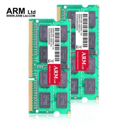 ARM Ltd New seal 1333Mhz DDR3 4GB1600Mhz Laptop Memory CL9-CL11 1.5V DIMM RAM 1333 4G 2GB 1600 Lifetime Warranty