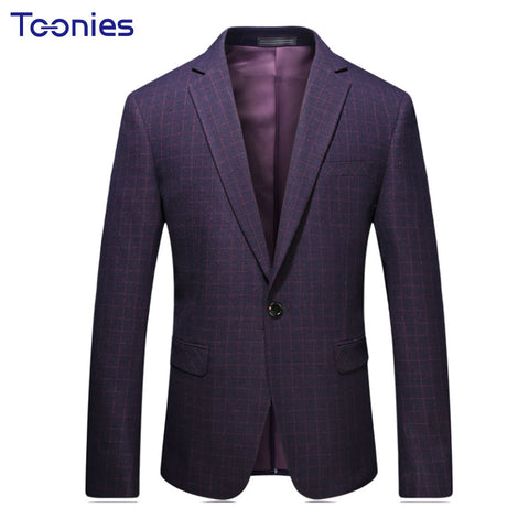 New Arrival Mens Fashion Dress Suit Blazer Male Fit Slim Long Sleeve Notched Collar Formal Retro Vintage Party Branded Jacket