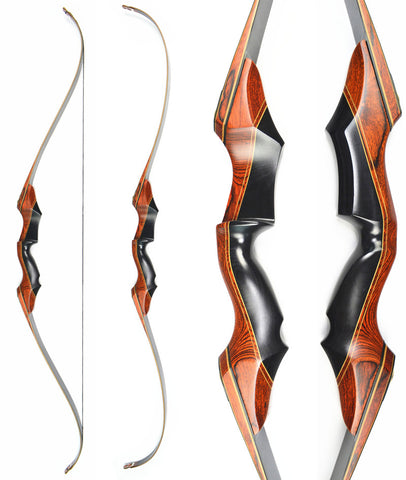 "58"" Takedown Recurve Bow Archery Longbow Laminated Limbs Wooden Riser for Outdoor Shooting and Hunting Free Shipping"