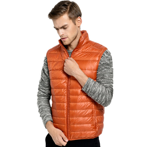 2017 New Ultralight White Duck Down Vest Men Autumn Winter Sleeveless Jackets Male Colete Down Vests Chaleco Hombre Mens Vest