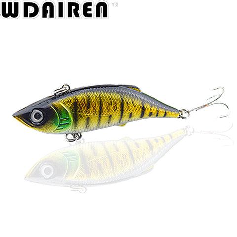 1Pcs VIB Winter Fishing Lures 8cm 11.8g Hard Bait With Lead Inside Lead Fish Ice Sea Fishing Tackle Swivel Jig Wobbler Lure