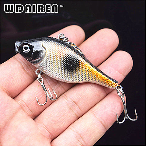 1Pcs 6.5cm 12g Winter Fishing Hard Bait VIB with Lead Inside Ice Sea Fishing Tackle Diving Swivel Jig Wobbler Lure FA-236