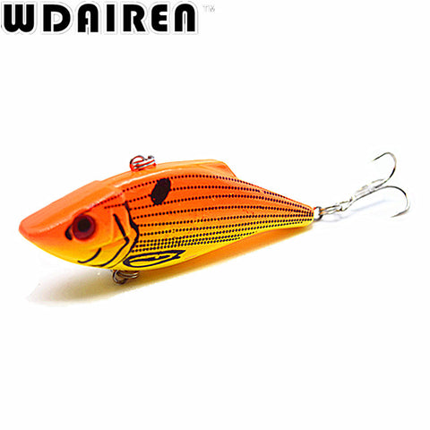 1Pcs 7cm 10.5g VIB Fishing Lure Winter Fishing Hard Bait with Lead Inside Ice Sea Fishing Tackle Fly Fishing Wobbler Lure NE-193