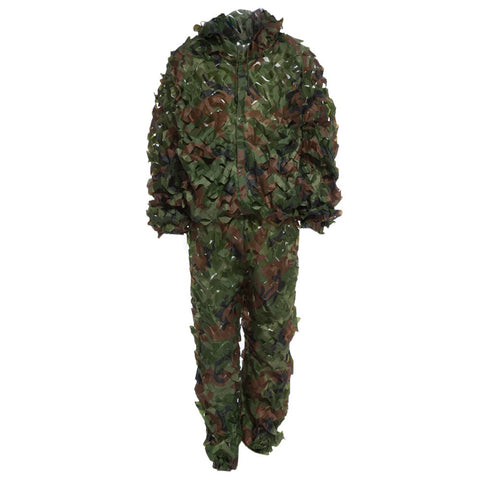 2017 New 3D Leafy Ghillie Suit Woodland Camo Camouflage Clothing jungle Hunting CS Savage Camo Jungle Sniper Free Size