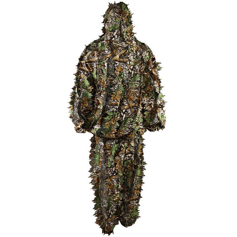 New Camouflage Clothing Woodland Sniper Ghillie Bionic Suit Kit 3D Leaf Camouflage Camo Jungle Hunting Birding Leaf Ghillie Suit