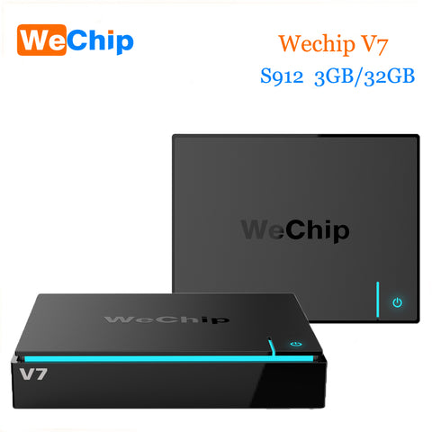 2017 Newest Wechip V7 Android 7.0 Tv Box S912 Octa-core 3GB 32GB Dual Wifi 2.4G+5.0G With Bluetooth PK H96 Pro Plus Smart Tv Box