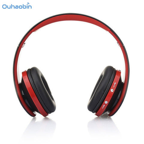 Ouhaobin Fashion Foldable Wireless Bluetooth Headphone Super Stereo Headset Handsfree Headphones Mic For Cell Phone Set25