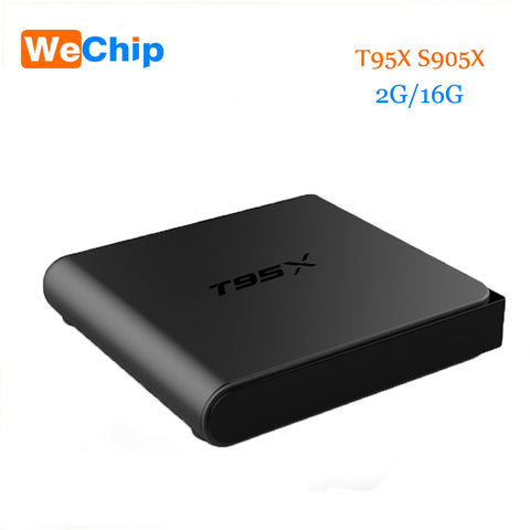 2016 T95X TV Box S905X Quad Core Android 6.0 Wifi 2.4G Kodi 16.1 2G 16G Memory Smart Android TV Box Media Player Set Top Box T95