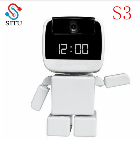 FREE Shipping SITU brand New 960P IP Camera Wi-Fi Home Security Robot Cam with LED Display Clock Remote Control Night Vision Pan Home IP Cam