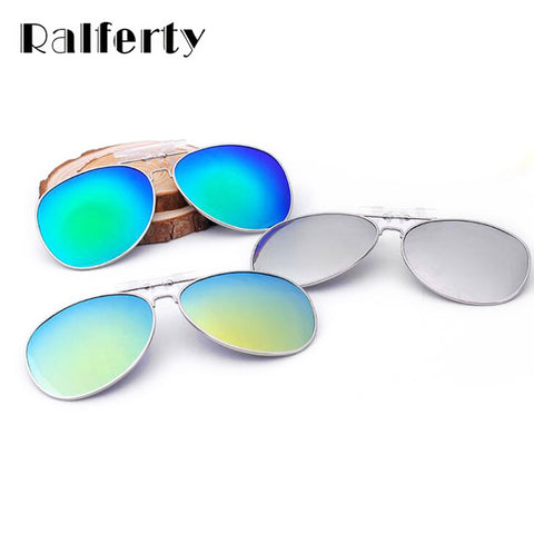 Ralferty Polarized Clip On Sunglasses Men Women Pilot Flip UP Driving Night Vision Lens Oversize Sun Glasses Outdoor Goggles
