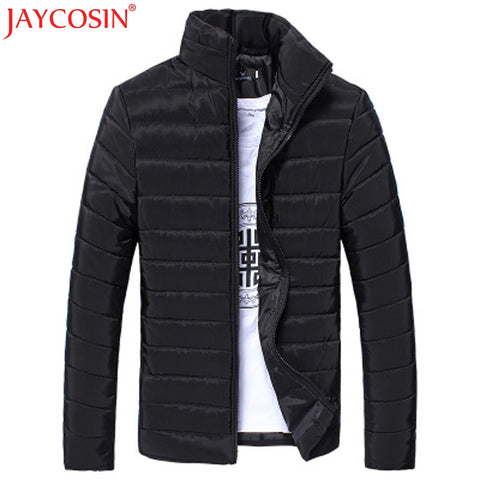JAYCOSIN Men's Trench 2017 Plus Size Mens Coat Men Cotton Stand Zipper Warm Winter Thick Coats Y109 Free Shiping