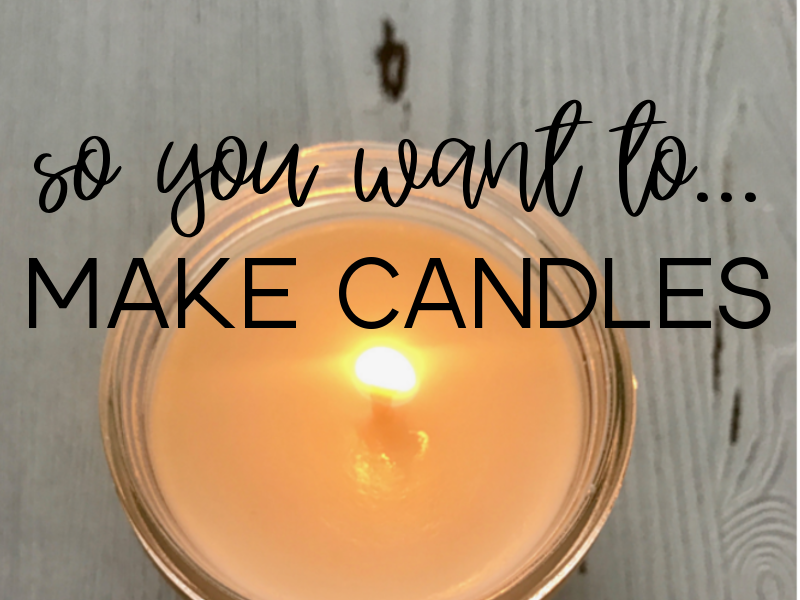 Classes + Workshops // Ebook // Diy // Candle Making Book // Learn to Make Soy Candles - salt + peak