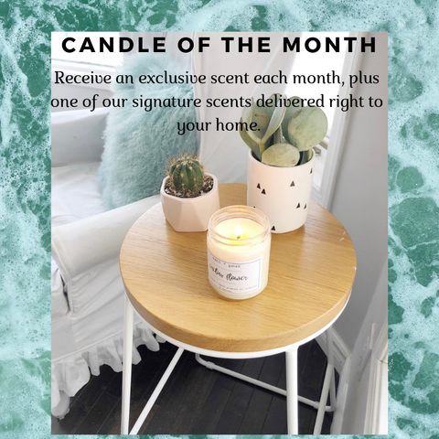 Candle of the Month // Exclusive Scents // Candle Club // Free Shipping // 3 months