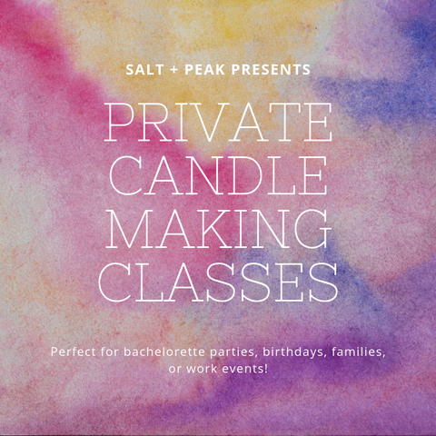 Classes + Workshops // Scent + Pour // Candle Making Classes // Create Your Own Candle // In-Store Class // Private Class // Private Group