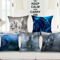 Horse Printed Cushion Cover