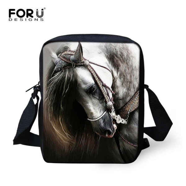 3D Crazy Horse messenger bag