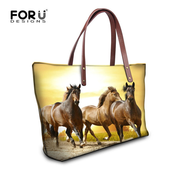 Casual Large Crazy Horse Shoulder Bag
