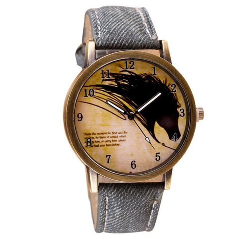 Willby Vintage Horse Quartz Wrist Watch