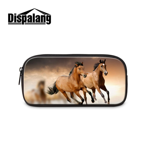 3D Horse Print  Pencil/ Cosmetic Case