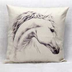 Fashion Cool White Horse pillow case cover