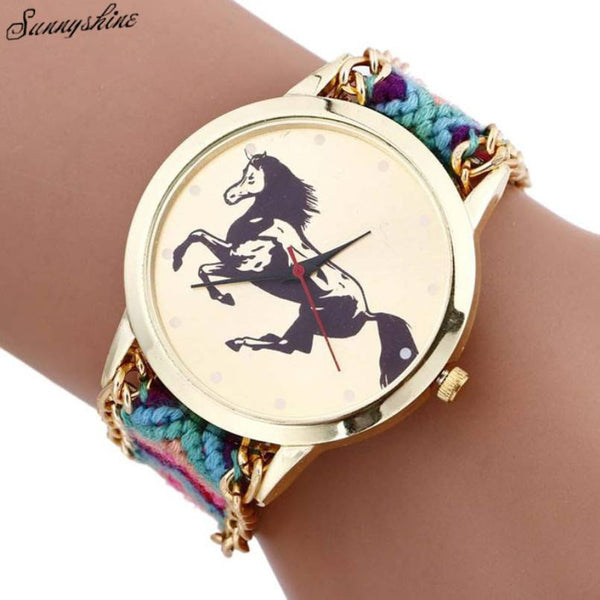 New Fashion Horse Rope Knitted wristwatch