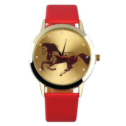 Wild Running Horse Quartz Wrist Watch