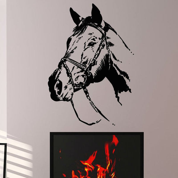 Detailed Horse's Head Decal