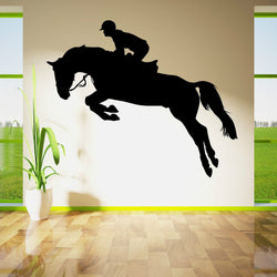 Show Jumping Horse and Rider Decal