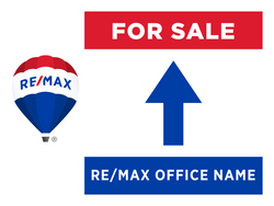 RE/MAX® For Sale Directional Signs - Straight Arrow