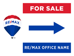 RE/MAX® For Sale Directional Signs - Side Arrow