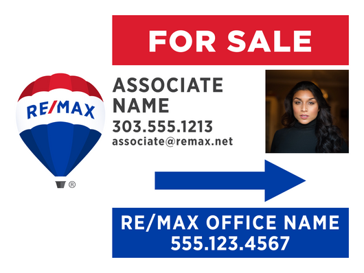 RE/MAX® For Sale Directional Signs - With Photo