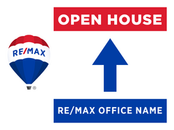 RE/MAX® Open House Signs - Straight Arrow