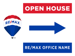 RE/MAX® Open House Signs - Side Arrow