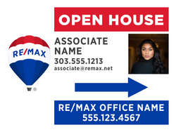 RE/MAX® Open House Signs - With Photo