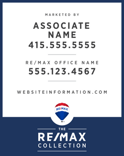 RE/MAX® Collection Standard Vertical For Sale Signs