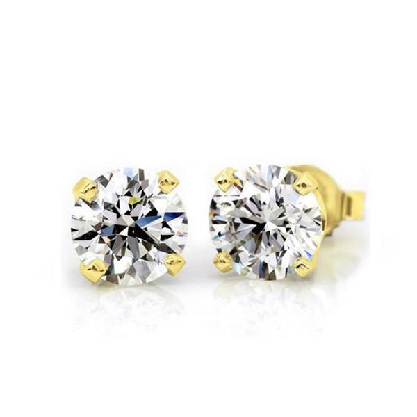 1/4 Carat Diamond Stud Earrings in 14K Yellow Gold (H-I,I2)