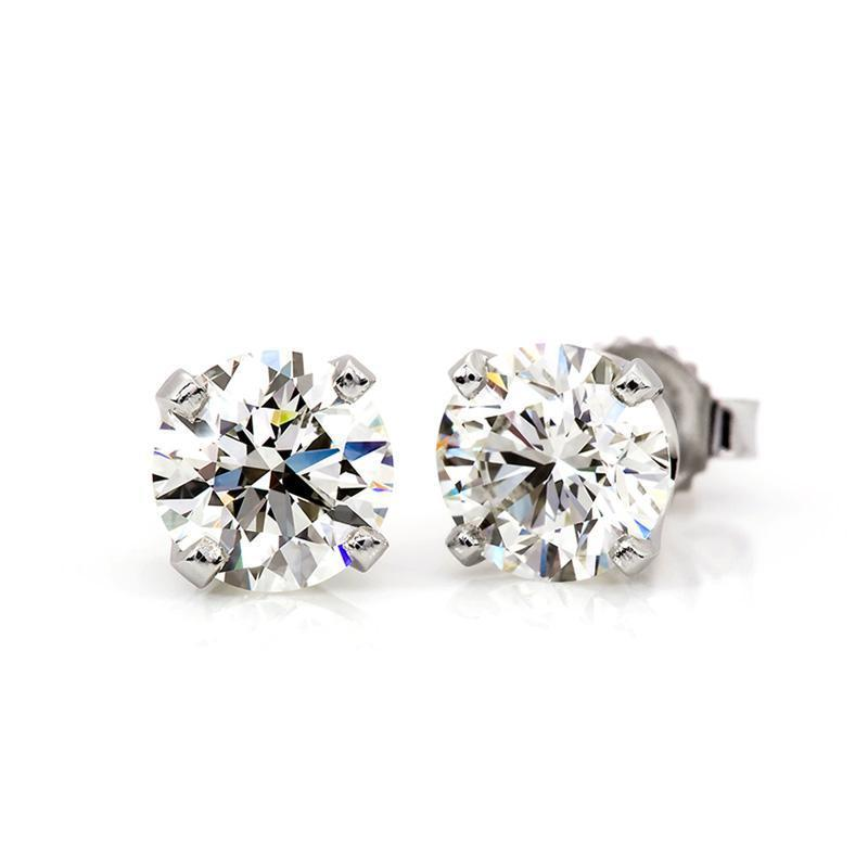 1/5 Carat Diamond Stud Earrings in 14K White Gold (H-I;I2)