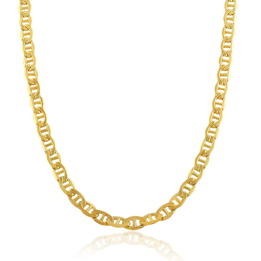 "14K Yellow Gold Mariner Link Chain Necklace - 22"" - 30.0 grams!"