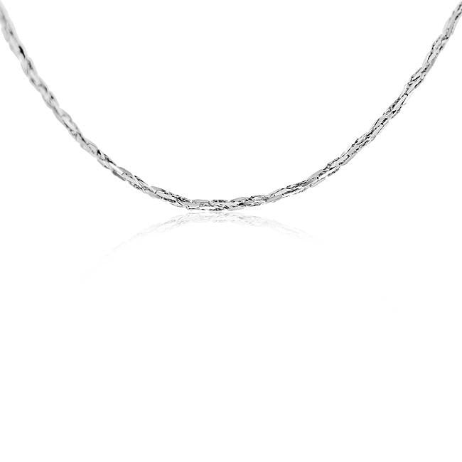 14K White Gold Tornado Link Chain