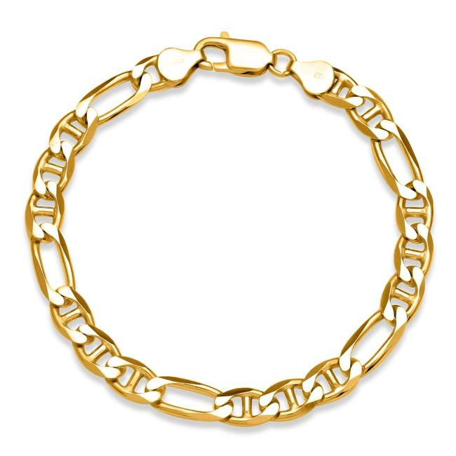 Men's Figarucci Link Bracelet in Gold-Plated Sterling Silver - 8.5""